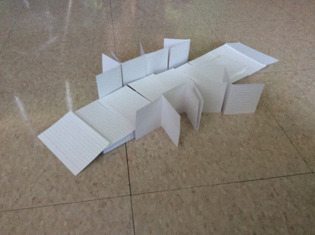 Have Paper, Will Travel: Business Card Modular Tetrahedron Frame | 800x1071